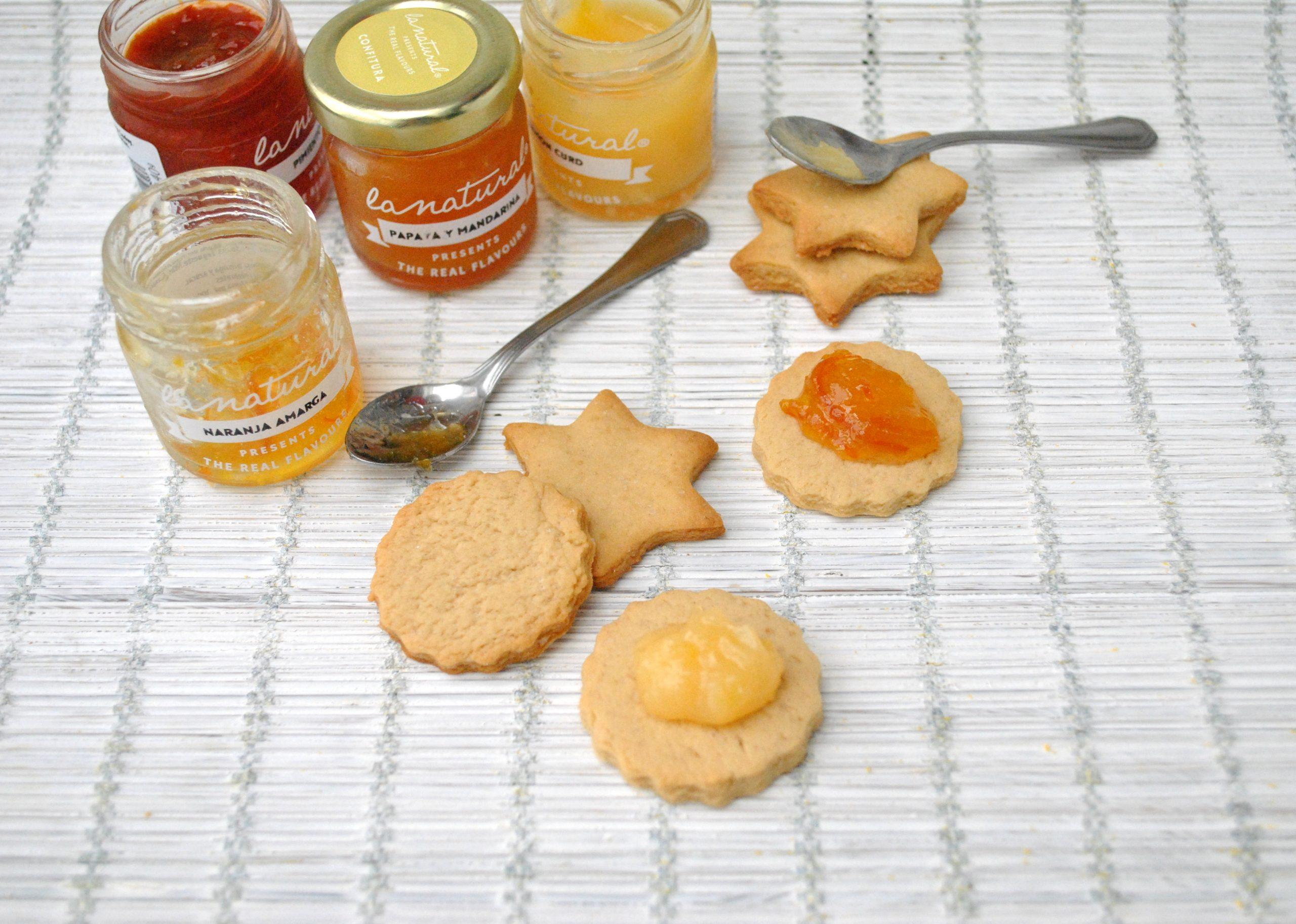 Receta: Galletas de mantequilla con mermelada